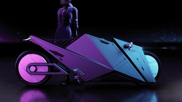 Rimac 2080 Hyper Cyber Bike or How Motorcycles Could Look Like in 60 Years 12