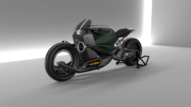 French Industrial Designer Creates the Bentley Hooligan Motorcycle 13