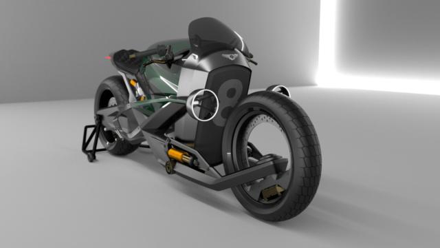 French Industrial Designer Creates the Bentley Hooligan Motorcycle 9