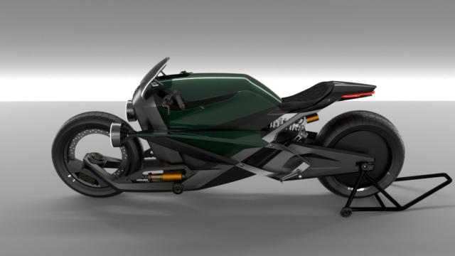 French Industrial Designer Creates the Bentley Hooligan Motorcycle 14