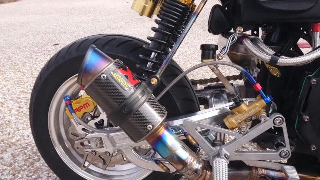 Custom 45 HP Inline-Four Honda Monkey on Steroids 11