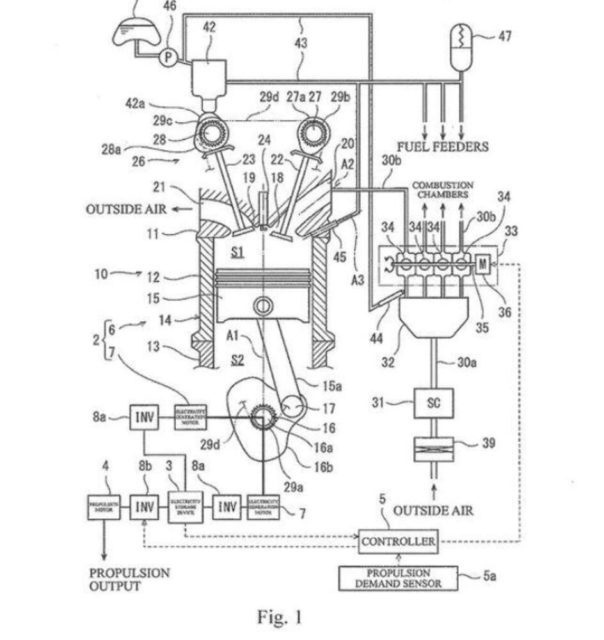 Kawasaki Patents Supercharged Two-Stroke Inline-Four Engine 5
