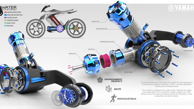 2025 Yamaha XT 500 H2O - Concept Bike that Runs on Water 17