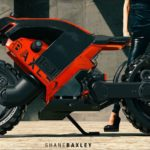 Hubless Electric Motorcycle with Mad Max Looks 4