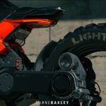 Hubless Electric Motorcycle with Mad Max Looks 9