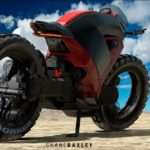 Hubless Electric Motorcycle with Mad Max Looks 10