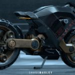 Hubless Electric Motorcycle with Mad Max Looks 11