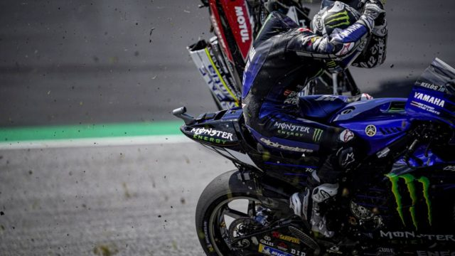 """Rossi & Vinales Escape High-Speed MotoGP Crash - """"Yes, it was… very, very scary"""" 21"""