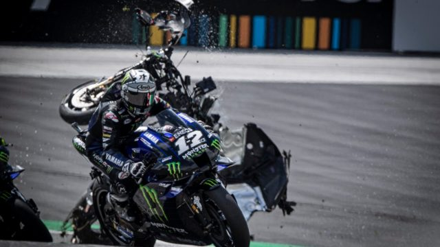 """Rossi & Vinales Escape High-Speed MotoGP Crash - """"Yes, it was… very, very scary"""" 22"""