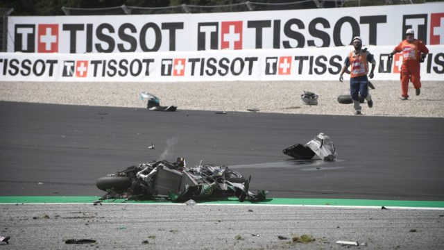 """Rossi & Vinales Escape High-Speed MotoGP Crash - """"Yes, it was… very, very scary"""" 23"""