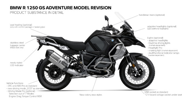 This is the 2021 BMW R1250GS/GSA: Adaptive Headlight, Heated Seat, New Color 5
