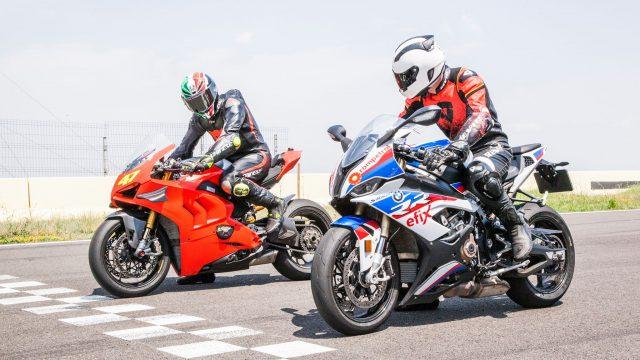 Ducati Panigale V4R VS BMW S1000RR track test 1