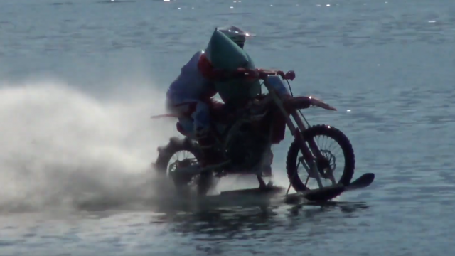 Luca Colombo Is the Fastest Motorcycle Rider... on Water 1