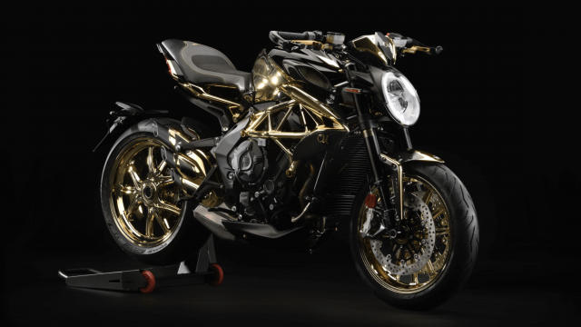 MV Agusta Reveals One-off Dragster RC Shining Gold 2
