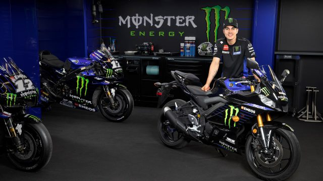 Yamaha YZF-R3 Shows Up in Monster Energy MotoGP Livery 1