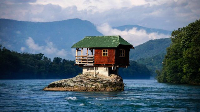 House in the Middle of Drina River