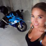 Joanna F. Benz is the first Biker Girl to follow in 2017 3