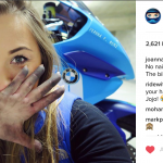 Joanna F. Benz is the first Biker Girl to follow in 2017 5