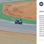 Joanna F. Benz is the first Biker Girl to follow in 2017 4