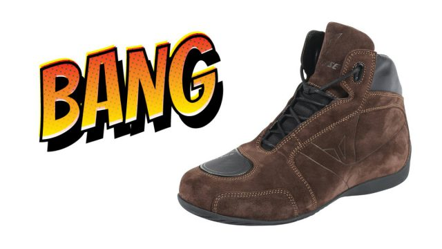 Tell us what your ride is & Win Some Fancy Dainese Riding Shoes 1