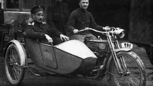 Russian Harley Davidson Sidecar