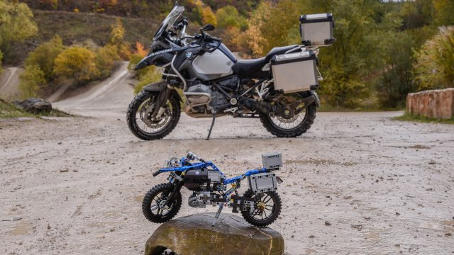 BMW R1200GS and Lego Technic model