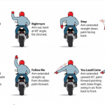 Motorcycle Hand Signals - Infographic 2