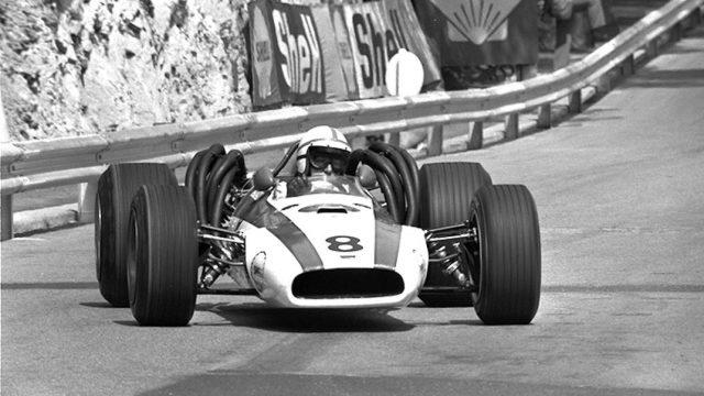 John Surtees in Honda RA301 in Monaco GP 1968
