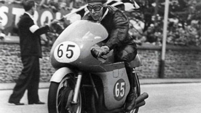 John Surtees on his MV Agusta 65