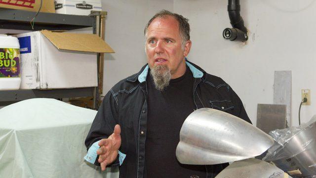 Robert Steffano in his workshop