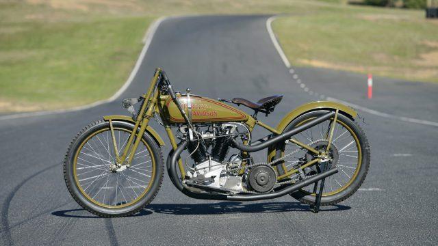 1926 HARLEY-DAVIDSON model 17 FHAC 61ci eight-valve racer test 1