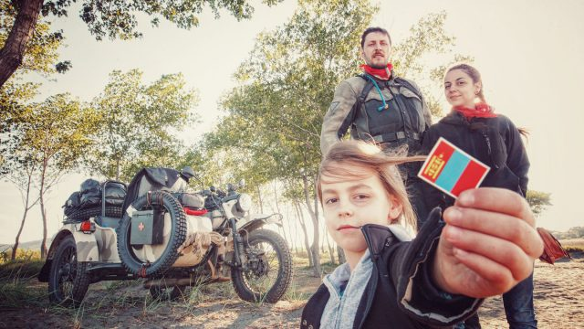 Photographer, riding to Mongolia with his wife and kid 1