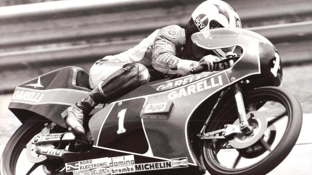 Nieto at Salzburgring 1983 on Garelli 125