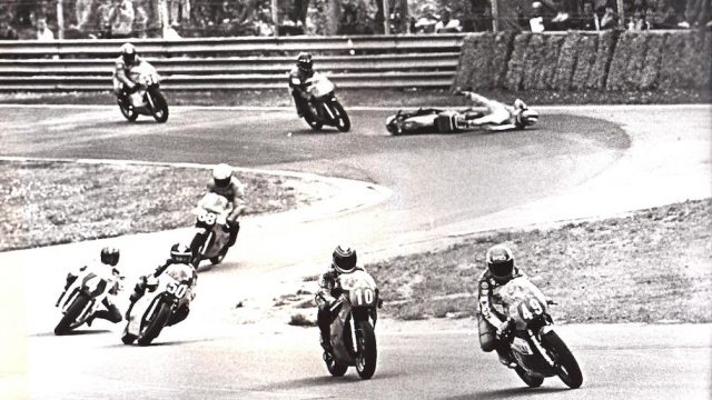 Nieto crash at Imola 125 Garelli 1983 01