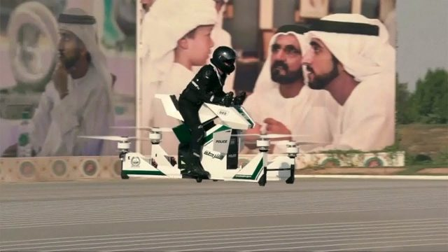 Flying motorcycle for Dubai Police force 1