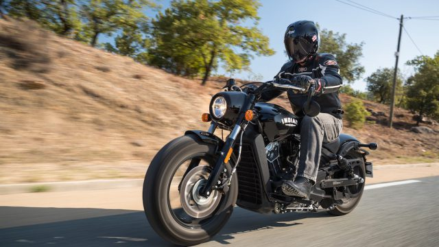 INDIAN SCOUT BOBBER Launch test: Boy Scout 1