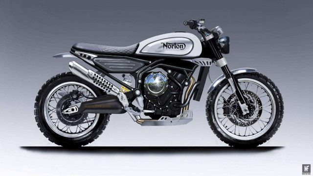 Norton 650 Scrambler teased 5