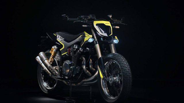 Valentino Rossi Yamaha XJR1300 Flat Tracker 1
