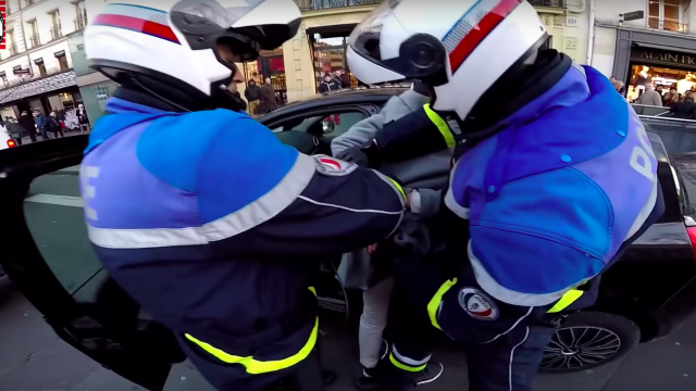 Motorcycle Santa chases hit and run driver 1