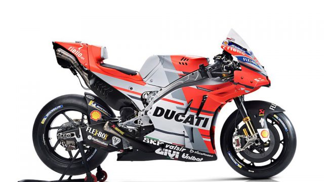 Ducati unveiled the new looking 2018 MotoGP machine 1