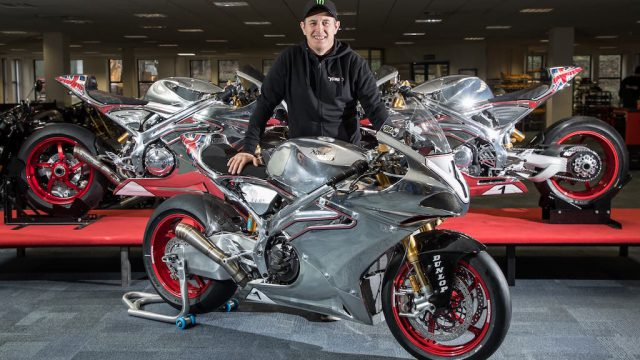 Norton and John McGuinness together for the 2018 Isle of Man TT 1