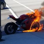 Ducati Panigale V4 catches Fire in traffic 2