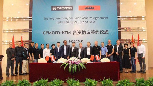 CFMoto KTM JV signing 11.10.2018 03