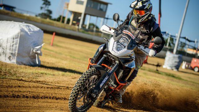 Motoz reveal big adventure bike Tractionator Desert tires 1