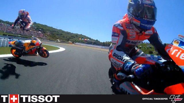 Spectacular Crash at MotoGP Jerez - Lorenzo, Dovizioso and Pedrosa - VIDEO 1