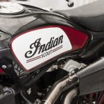 Travis Pastrana jumps Indian Scout FTR750 at Evel Live in July 2