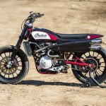 Travis Pastrana jumps Indian Scout FTR750 at Evel Live in July 4