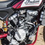 Travis Pastrana jumps Indian Scout FTR750 at Evel Live in July 5