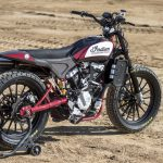 Travis Pastrana jumps Indian Scout FTR750 at Evel Live in July 6