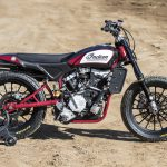 Travis Pastrana jumps Indian Scout FTR750 at Evel Live in July 7
